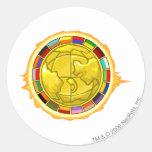 Logotipo 2010 de la taza de Altador Etiquetas Redondas