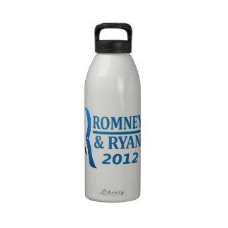 Logotipo 2012 de la elección de Romney Ryan Botellas De Agua Reutilizables
