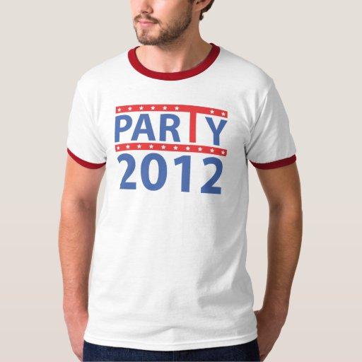 Logotipo 2012 de la fiesta del té por diseños de camisas