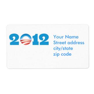 Logotipo 2012 de Obama Etiqueta De Envío