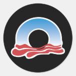 Logotipo 2012 de Obama Pegatina Redonda
