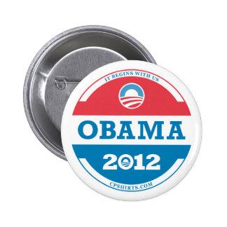Logotipo 2012 de Obama Pin Redondo 5 Cm