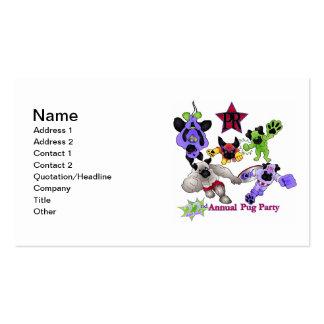Logotipo 2013 de los barros amasados del super hér tarjetas de visita
