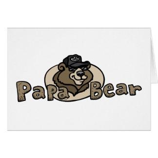 Logotipo 2013 del oso de la papá tarjeta de felicitación