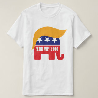 Logotipo 2016 del pelo del elefante del GOP de Remeras