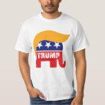 Logotipo 2016 del pelo del elefante del presidente camisas