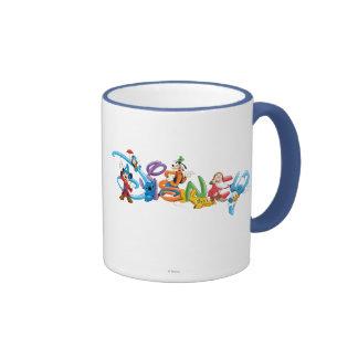 Logotipo 2 de Disney Taza A Dos Colores