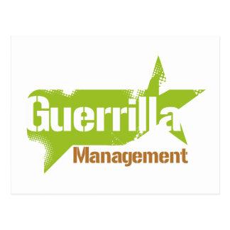Logotipo 2 de la gestión de la guerrilla tarjetas postales