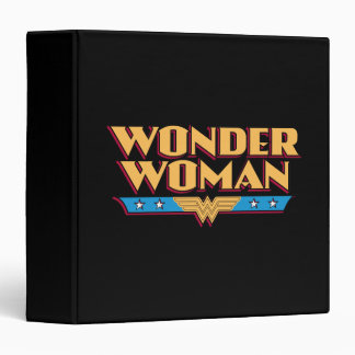 "Logotipo 2 de la Mujer Maravilla Carpeta 1 1/2"""