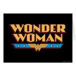 Logotipo 2 de la Mujer Maravilla Felicitaciones