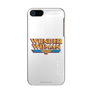 Logotipo 2 de la Mujer Maravilla Funda Para iPhone 5 Incipio Feather Shine
