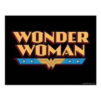 Logotipo 2 de la Mujer Maravilla Postales