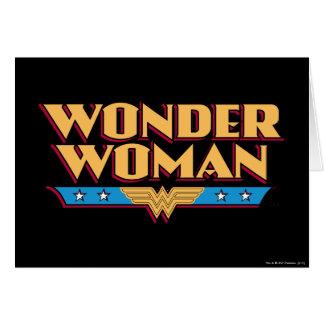 Logotipo 2 de la Mujer Maravilla Tarjeta De Felicitación