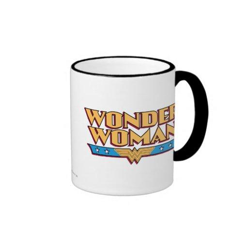 Logotipo 2 de la Mujer Maravilla Tazas De Café