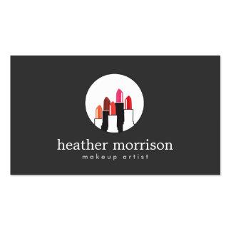 Logotipo 2 del collage del lápiz labial para los tarjetas de visita