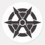 logotipo 2 del cp pegatinas redondas