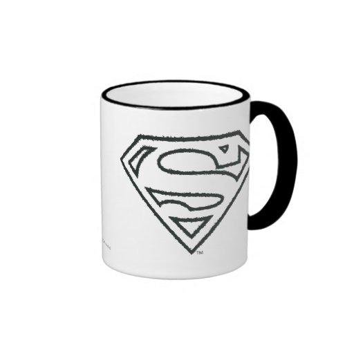 Logotipo 2 del Grunge del superhombre Tazas