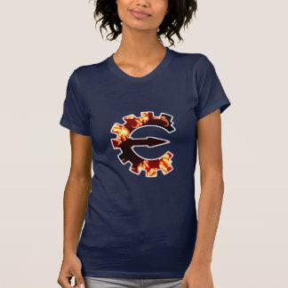 Logotipo 2 del motor del tramposo - fractal camisas