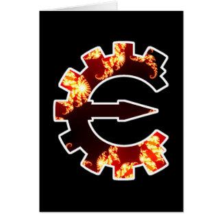 Logotipo 2 del motor del tramposo - fractal tarjeta pequeña