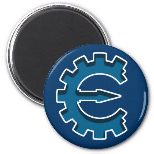 Logotipo 2 del motor del tramposo iman de frigorífico