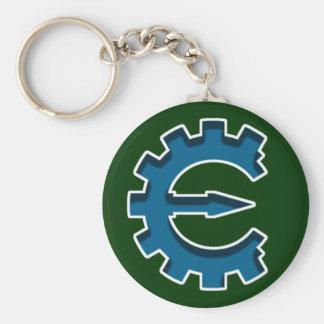 Logotipo 2 del motor del tramposo llavero redondo tipo pin