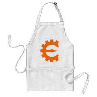 Logotipo 2 del motor del tramposo - naranja delantal
