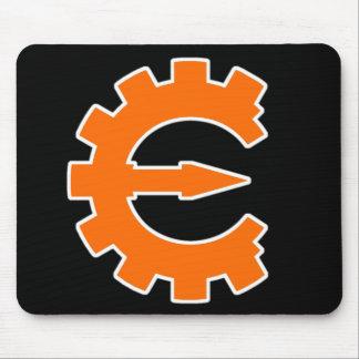 Logotipo 2 del motor del tramposo - naranja tapetes de ratones