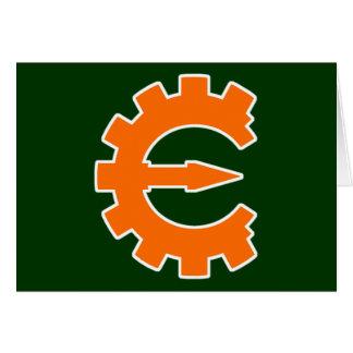 Logotipo 2 del motor del tramposo - naranja tarjeta de felicitación