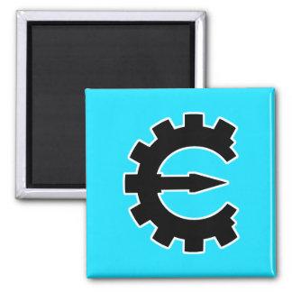 Logotipo 2 del motor del tramposo - negro imán cuadrado