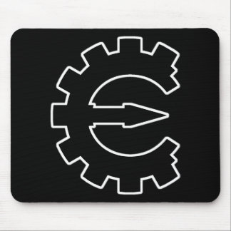 Logotipo 2 del motor del tramposo - negro tapetes de raton
