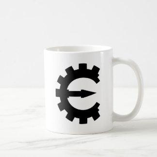 Logotipo 2 del motor del tramposo - negro tazas