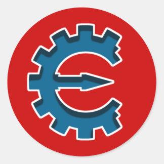 Logotipo 2 del motor del tramposo pegatina redonda