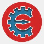 Logotipo 2 del motor del tramposo pegatinas