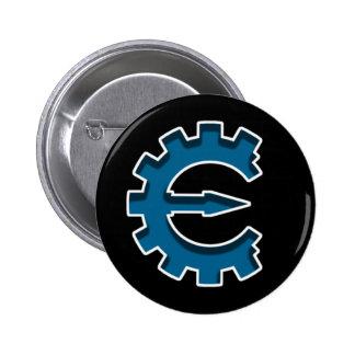 Logotipo 2 del motor del tramposo pin redondo de 2 pulgadas