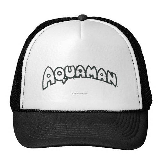 Logotipo 2 del negro del Grunge de Aquaman Gorras De Camionero