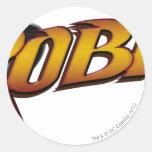 Logotipo 2 del petirrojo pegatina redonda