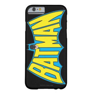 Logotipo 2 del vintage de Batman Funda De iPhone 6 Barely There