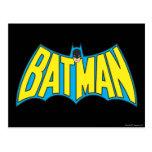 Logotipo 2 del vintage de Batman Postales