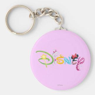 Logotipo 3 de Disney Llavero Redondo Tipo Pin