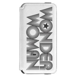 Logotipo 3 de la Mujer Maravilla B&W Funda Billetera Para iPhone 6 Watson