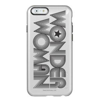 Logotipo 3 de la Mujer Maravilla B&W Funda Para iPhone 6 Plus Incipio Feather Shine