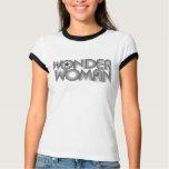 Logotipo 3 de la Mujer Maravilla B&W Poleras