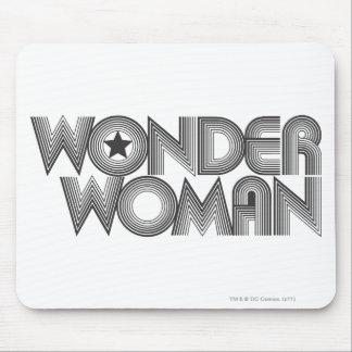 Logotipo 3 de la Mujer Maravilla B&W Tapete De Raton
