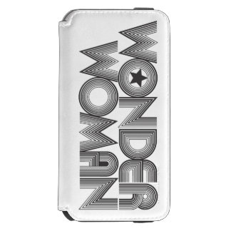 Logotipo 3 de la Mujer Maravilla B&W Funda Cartera Para iPhone 6 Watson