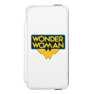 Logotipo 3 de la Mujer Maravilla Funda Billetera Para iPhone 5 Watson