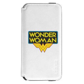 Logotipo 3 de la Mujer Maravilla Funda Billetera Para iPhone 6 Watson