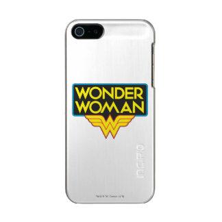 Logotipo 3 de la Mujer Maravilla Funda Para iPhone 5 Incipio Feather Shine