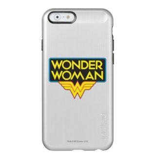 Logotipo 3 de la Mujer Maravilla Funda Para iPhone 6 Plus Incipio Feather Shine