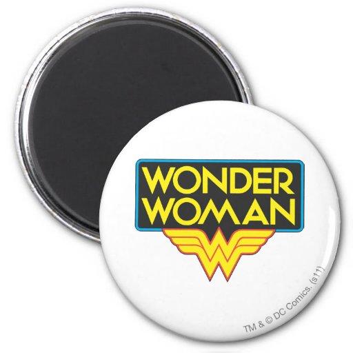 Logotipo 3 de la Mujer Maravilla Imán Redondo 5 Cm