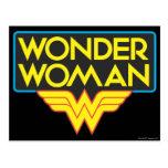 Logotipo 3 de la Mujer Maravilla Tarjeta Postal